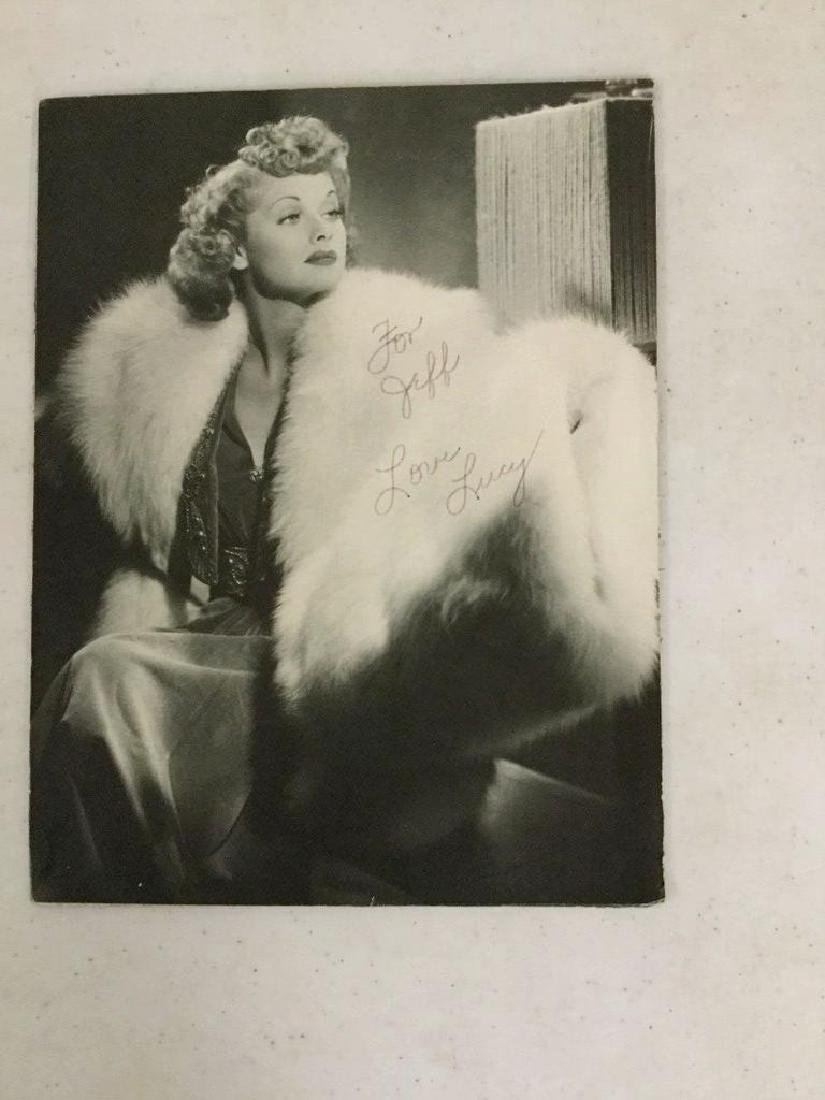 """AUTOGRAPHED PHOTO OF LUCILLE BALL - """"FOR JEFF, LOVE"""