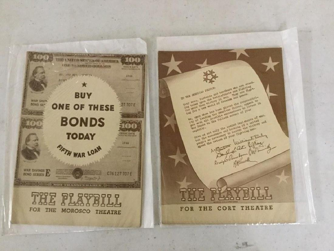 2 BOND DRIVE COVER PLAYBILLS, AS PICTURED