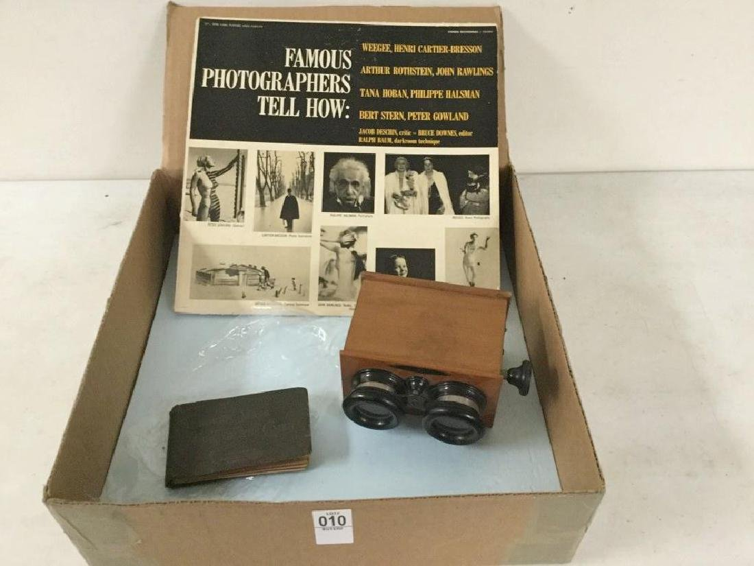 LOT WITH UNIS FRANCE STEREOVIEWER FOR GLASS SLIDES;