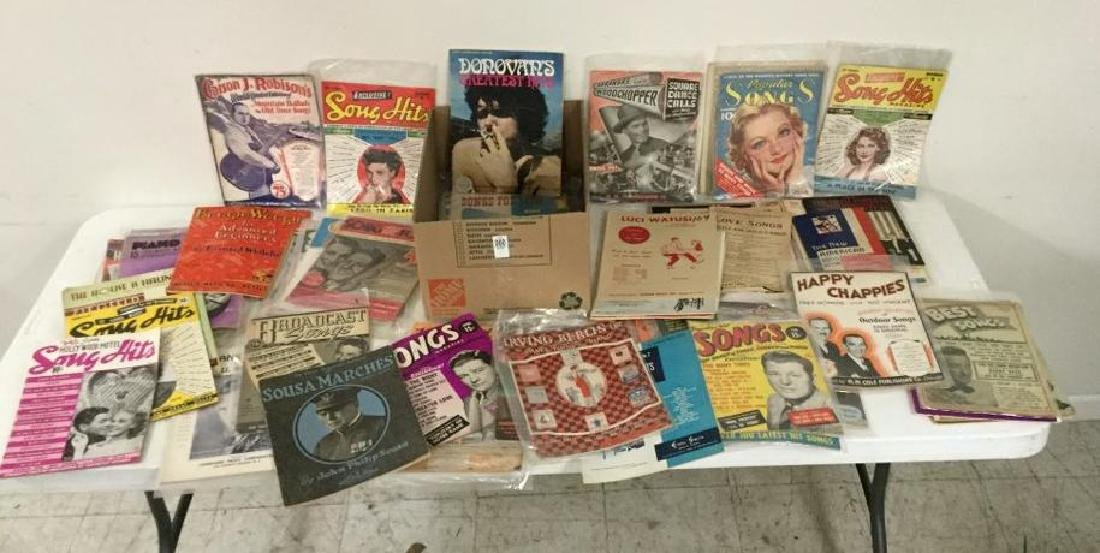 APPROX 100 SONGBOOKS INCLUDING SONG HITS, MELODY,