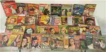 BOXLOT OF 59 1930'S-60'S DETECTIVE MAGAZINES INCLUDING