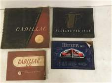 4 EARLY AUTOMOBILE TRADE CATALOGS INCLUDING 1939 BUICK,
