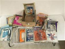 APPROX 400 PCS SHEET MUSIC INCLUDING EDDIE CANTOR, E T