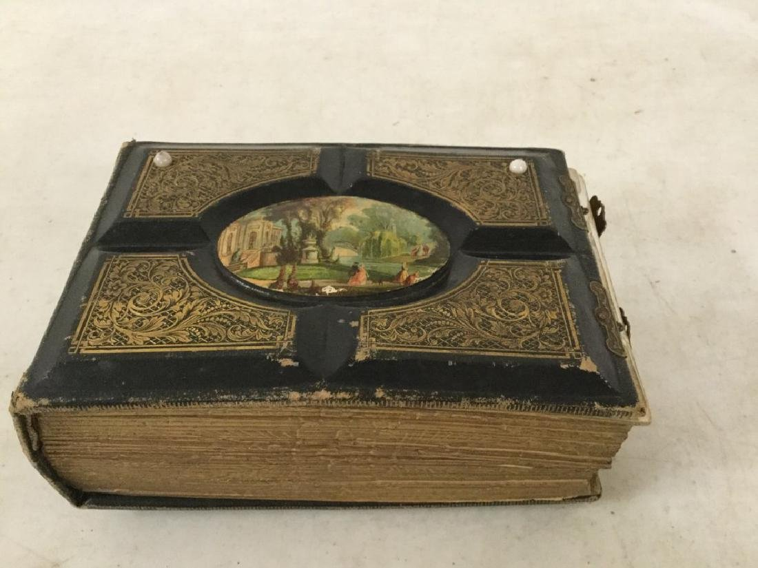ESTATE VICTORIAN ALBUM W/CDV'S AND TINTYPES, INCLUDING