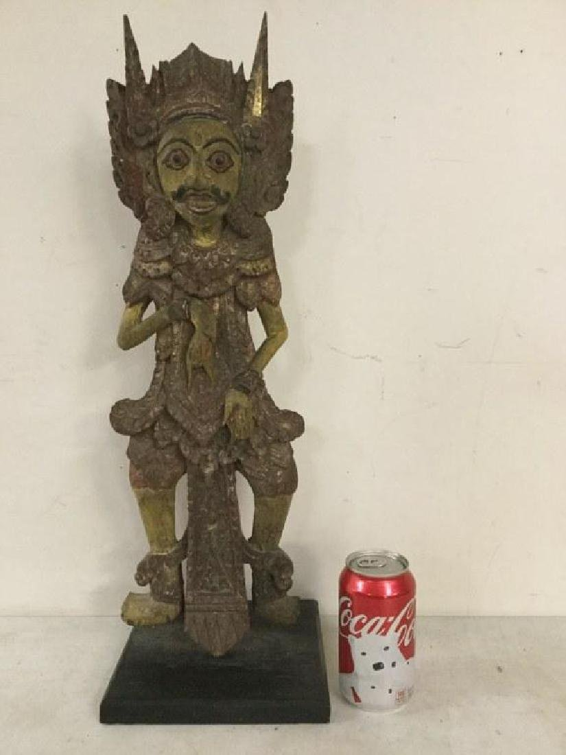 "ASIAN STATUE ON BASE, STATUE MEASURES 21 3/4"" H X 6"