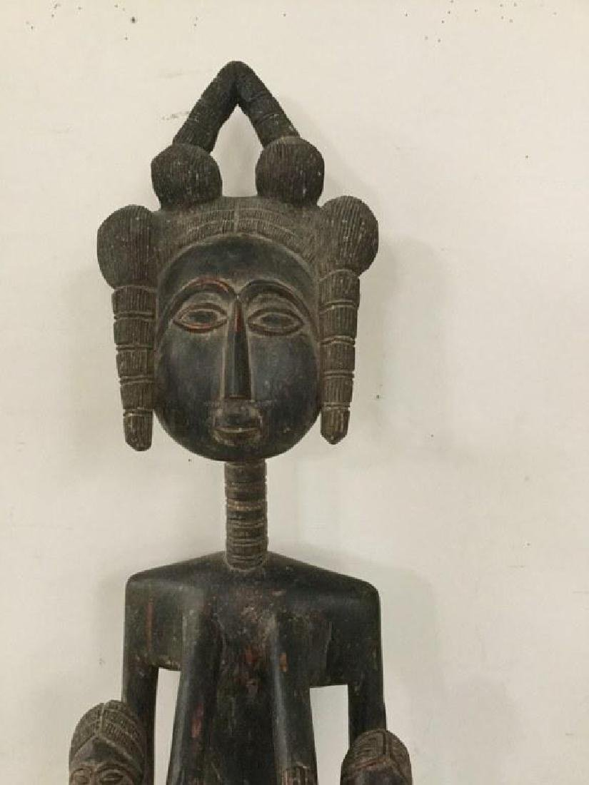 "AFRICAN STATUE, MEASURES 53 1/2"" H X 4 1/2"" D X 4"" WIDE - 2"