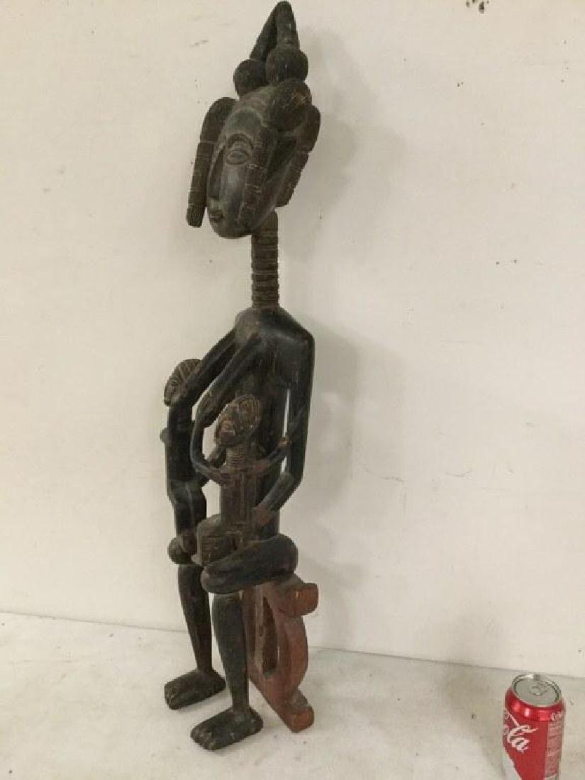 "AFRICAN STATUE, MEASURES 53 1/2"" H X 4 1/2"" D X 4"" WIDE - 4"