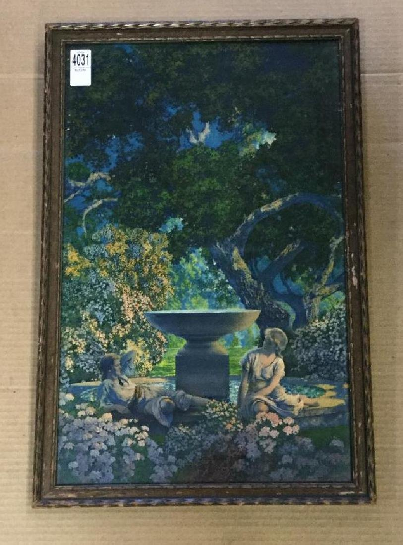 MAXFIELD PARRISH REVERIES 1926 PRINT IN PERIOD FRAME,