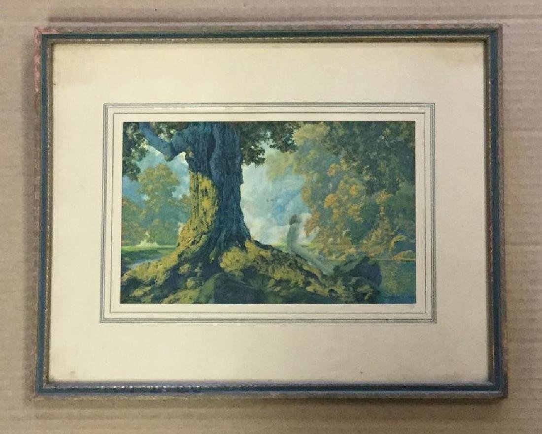 MAXFIELD PARRISH PRINT DREAMING, IN PERIOD FRAME,