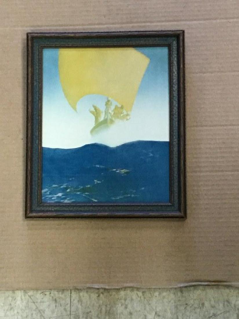 MAXFIELD PARRISH ARABIAN NIGHTS PIRATES ON THE SEAS, IN