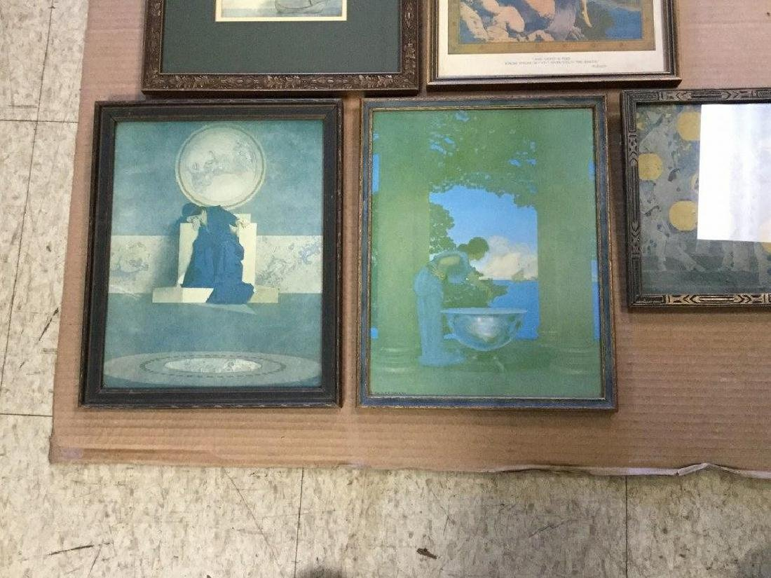 (5) MAXFIELD PARRISH PRINTS, OF THE PERIOD, IN PERIOD - 3