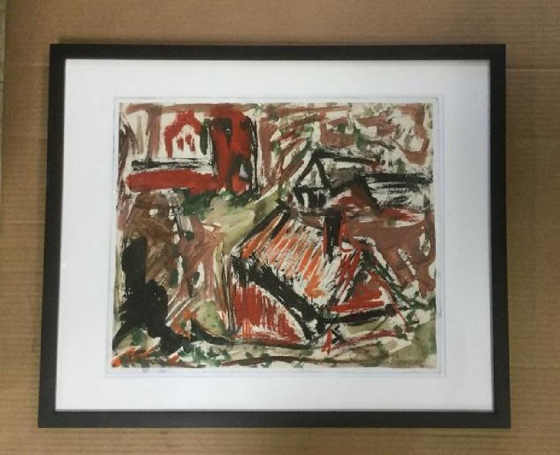 ROLPH SCARLETT IMPRESSIONIST GOAUCHE & W/COLOR OF