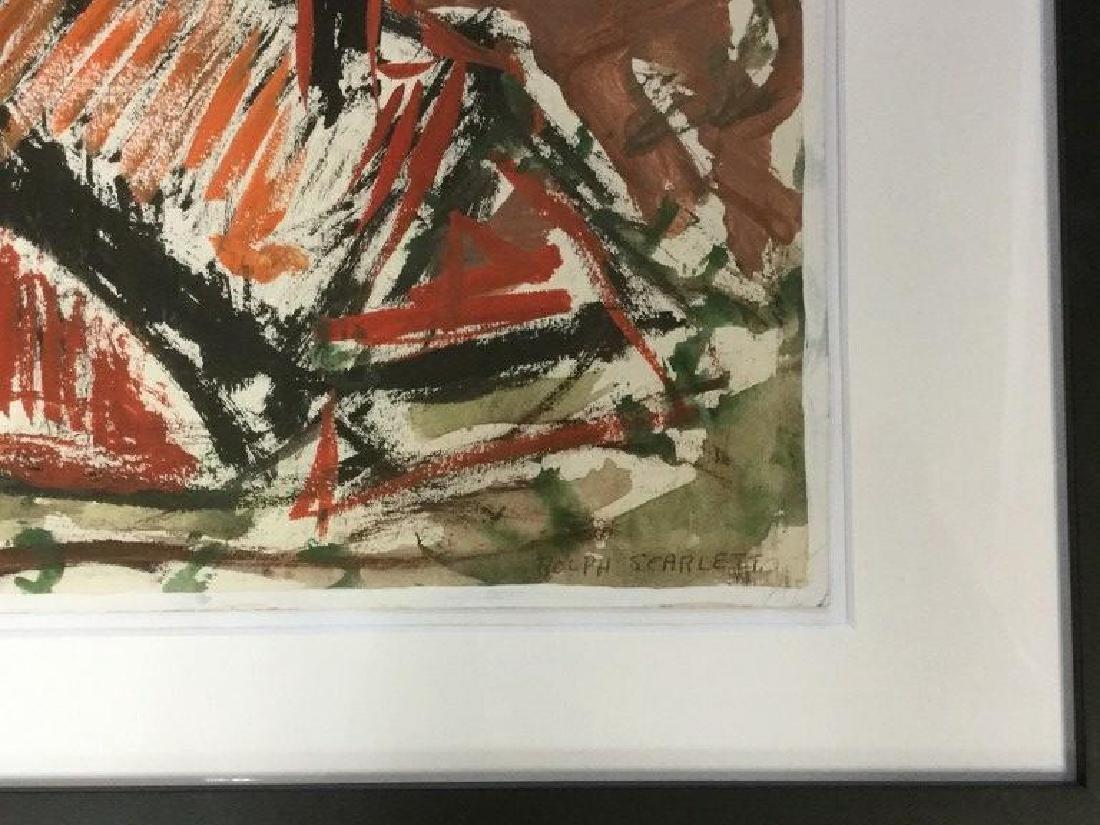 ROLPH SCARLETT IMPRESSIONIST GOAUCHE & W/COLOR OF - 2