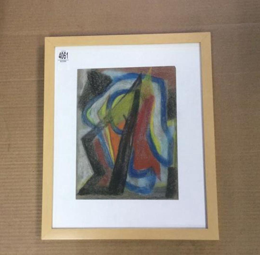 ROLPH SCARLETT ABSTRACT PASTEL, IN NICE FRAME, PAINTING - 2