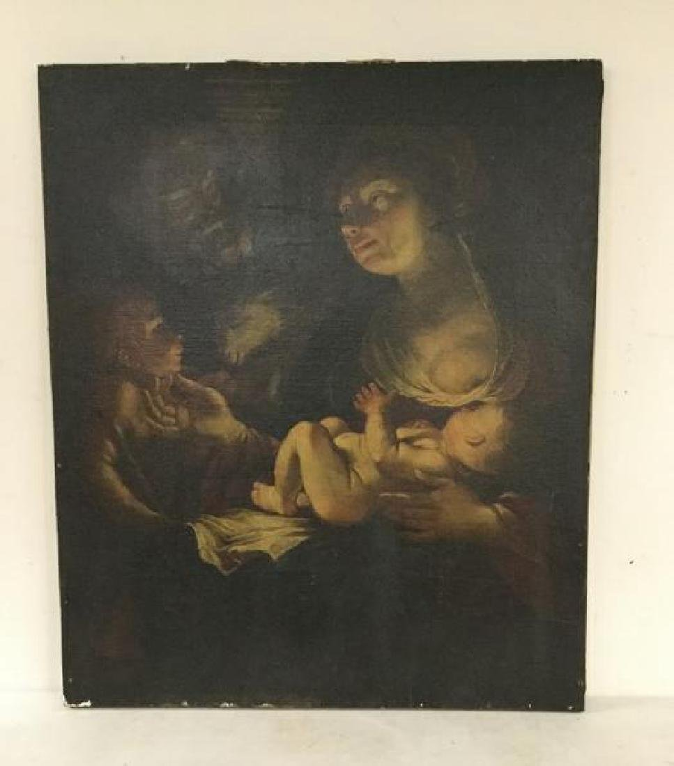 EARLY 19TH C (?)  OLD MASTER STYLE PAINTING OF MOTHER,