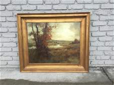 R S MAGUIRE LARGE FALL LANDSCAPE IN DECORATIVE GOLD