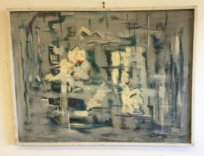 "KEN DONNER LARGE O/B ABSTRACT, PAINTING MEASURES 36"" X"