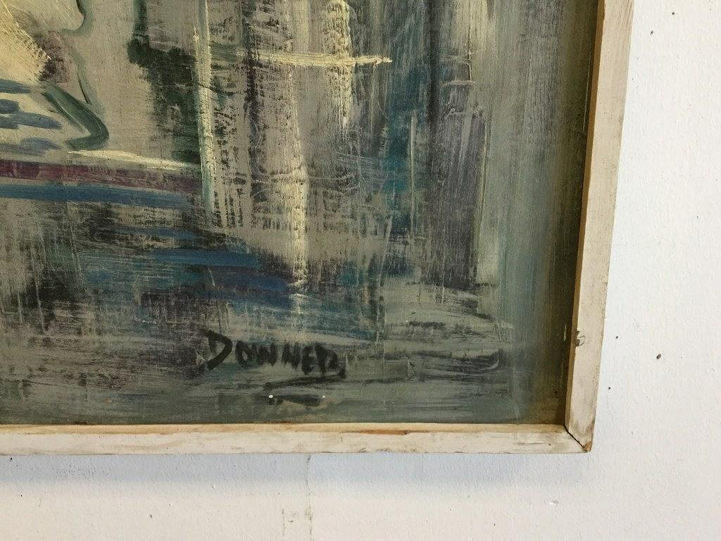 """KEN DONNER LARGE O/B ABSTRACT, PAINTING MEASURES 36"""" X - 2"""