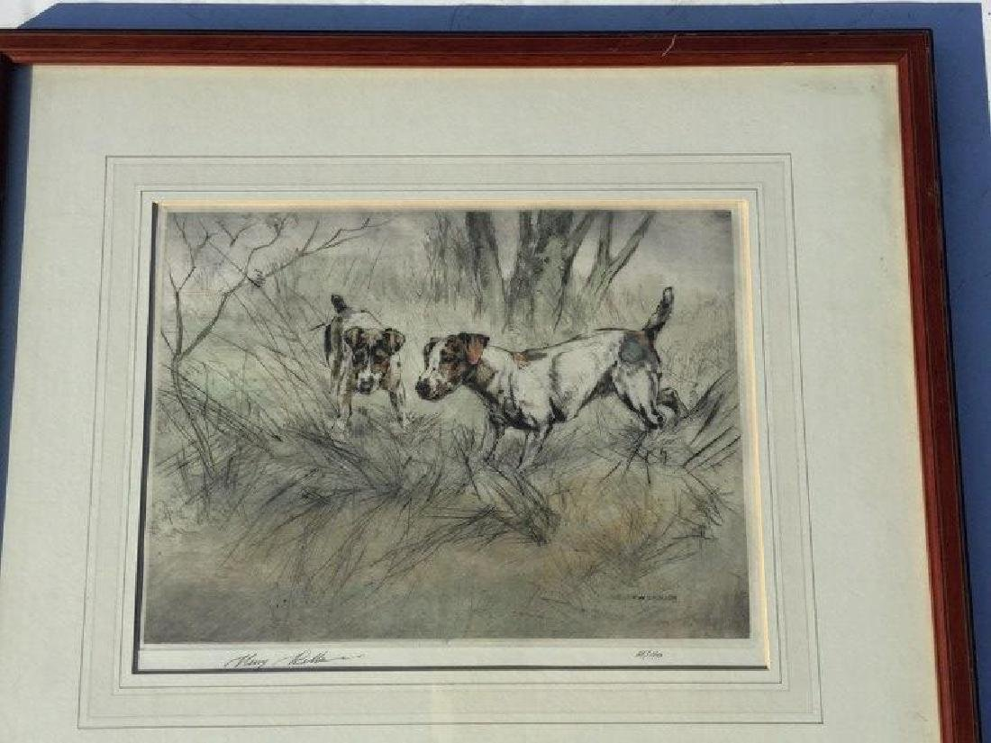 HENRY WILKINSON SIGNED PRINT, 2 DOGS, #68/180, NICELY - 2