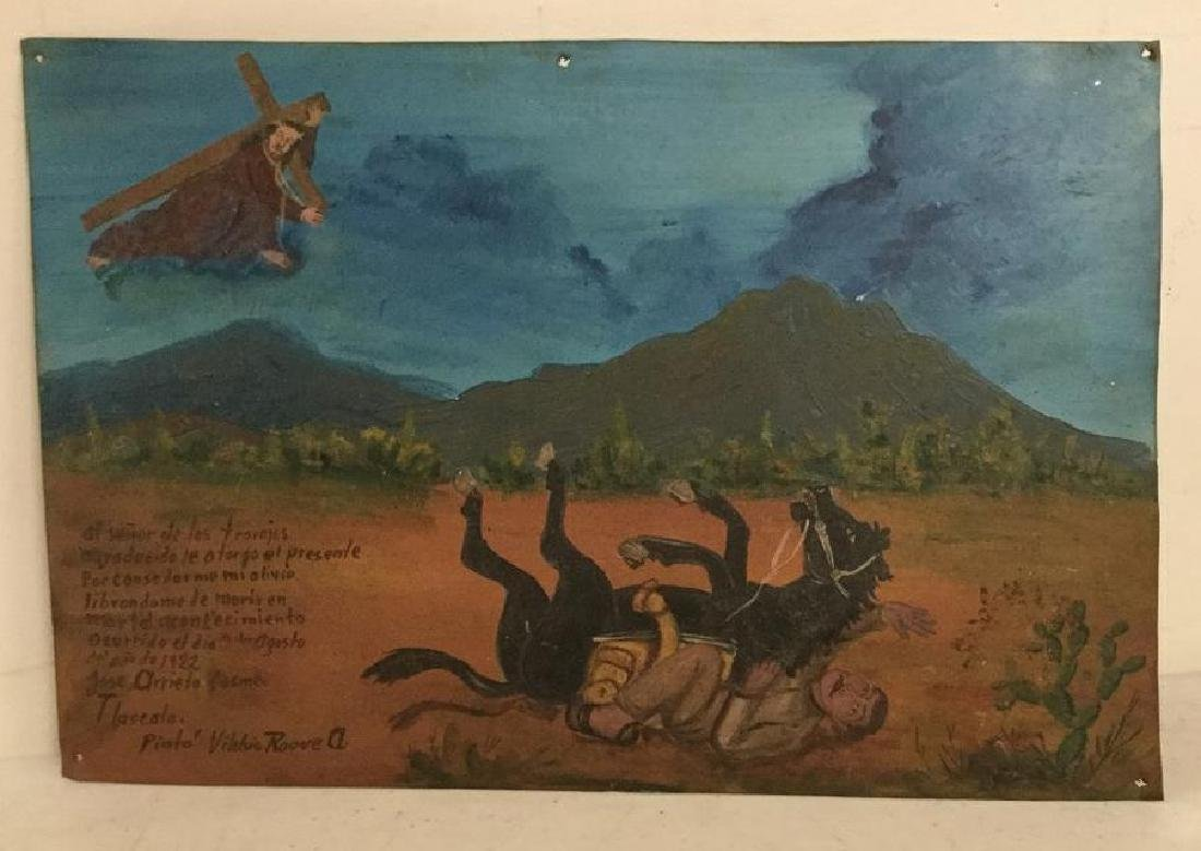 VILEHIS ROQUE OUTSIDER ART PAINTING ON TN, MAN AND