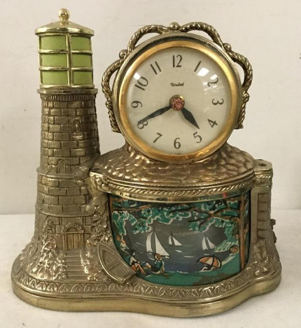 VINTAGE UNITED LIGHTHOUSE MOTION CLOCK MODEL 290, WITH