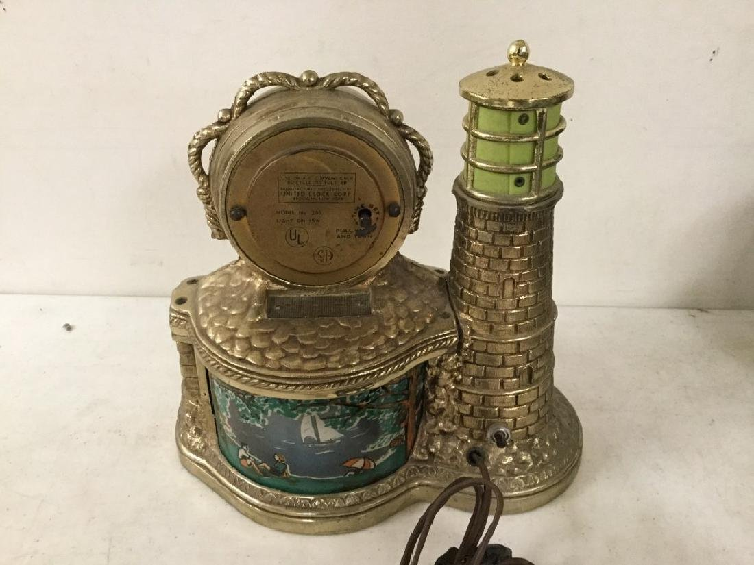 VINTAGE UNITED LIGHTHOUSE MOTION CLOCK MODEL 290, WITH - 2
