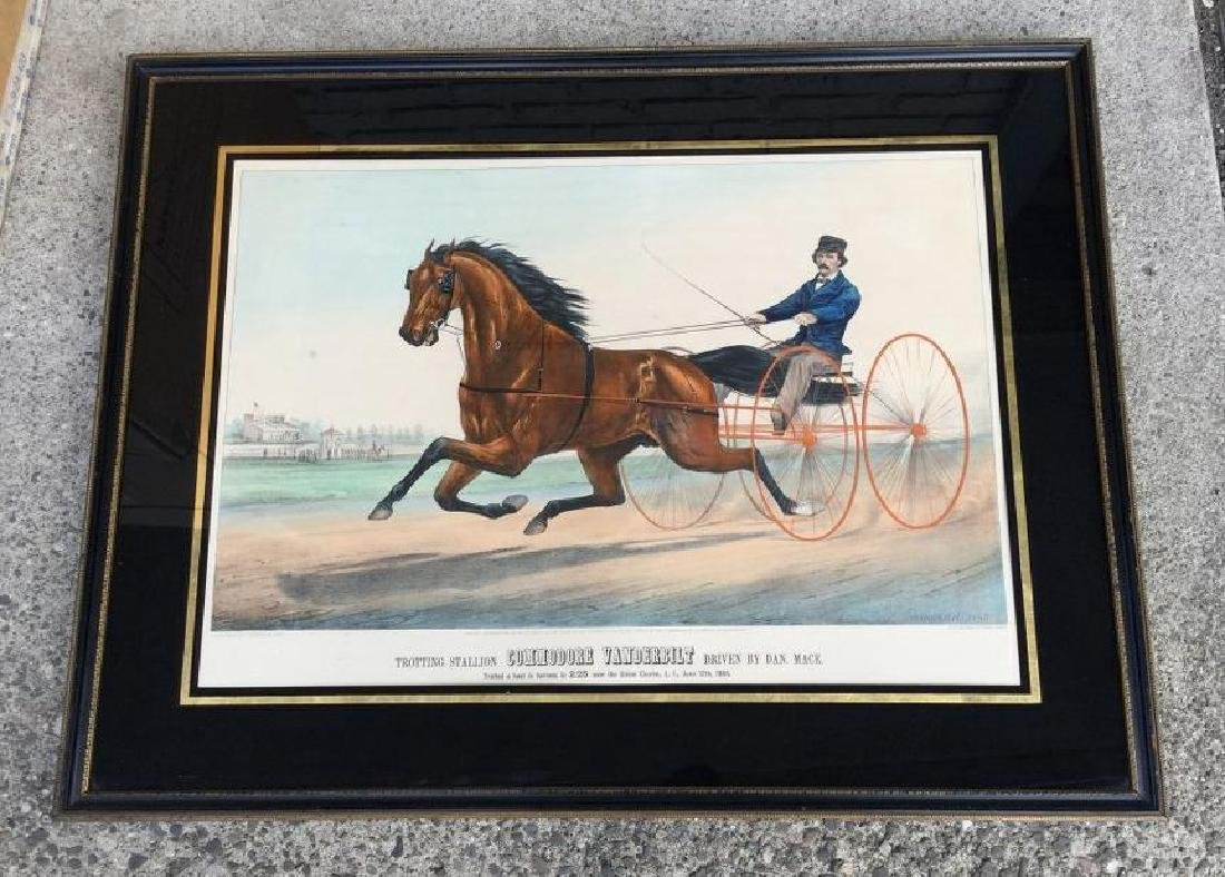 CURRIER & IVES COMMODORE VANDERBILT COLORED LITHOGRAPH,