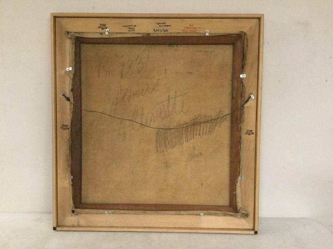 MERTON CLIVETTE (1868-1931) O/C IMPRESSIONIST FLORAL - 2