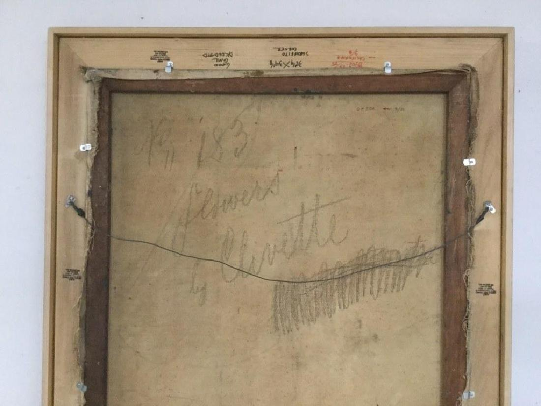MERTON CLIVETTE (1868-1931) O/C IMPRESSIONIST FLORAL - 3