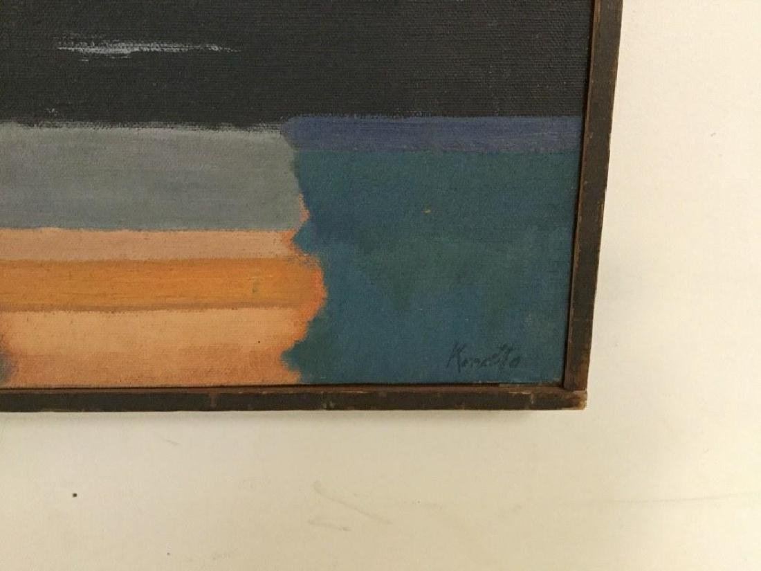 HOWARD KNOTTS ABSTRACT O/C TITLED EVENING ON THE RIVER, - 2