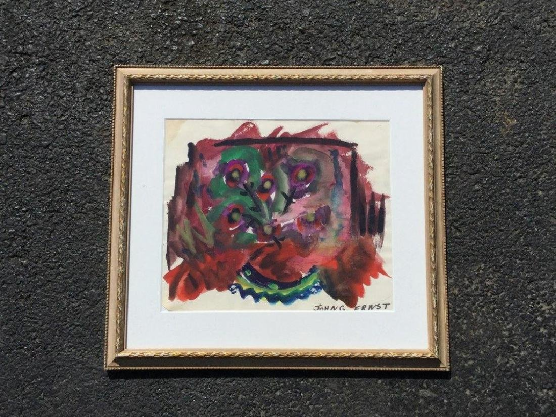 JOHN ERNST ABSTRACT W/C, SIGNED LOWER RIGHT, FRAMED AND - 2