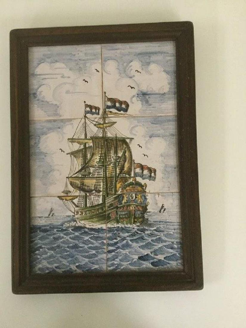 FRAMED HAND PAINTED FRIESLAND TILES OF THE DUTCH - 2
