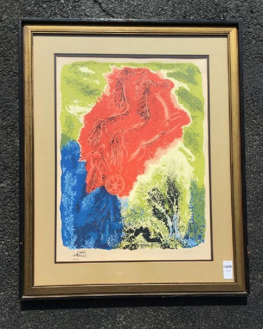 REUVEN RUBIN SIGNED NUMBERED LITHOGRAPH OR SILK