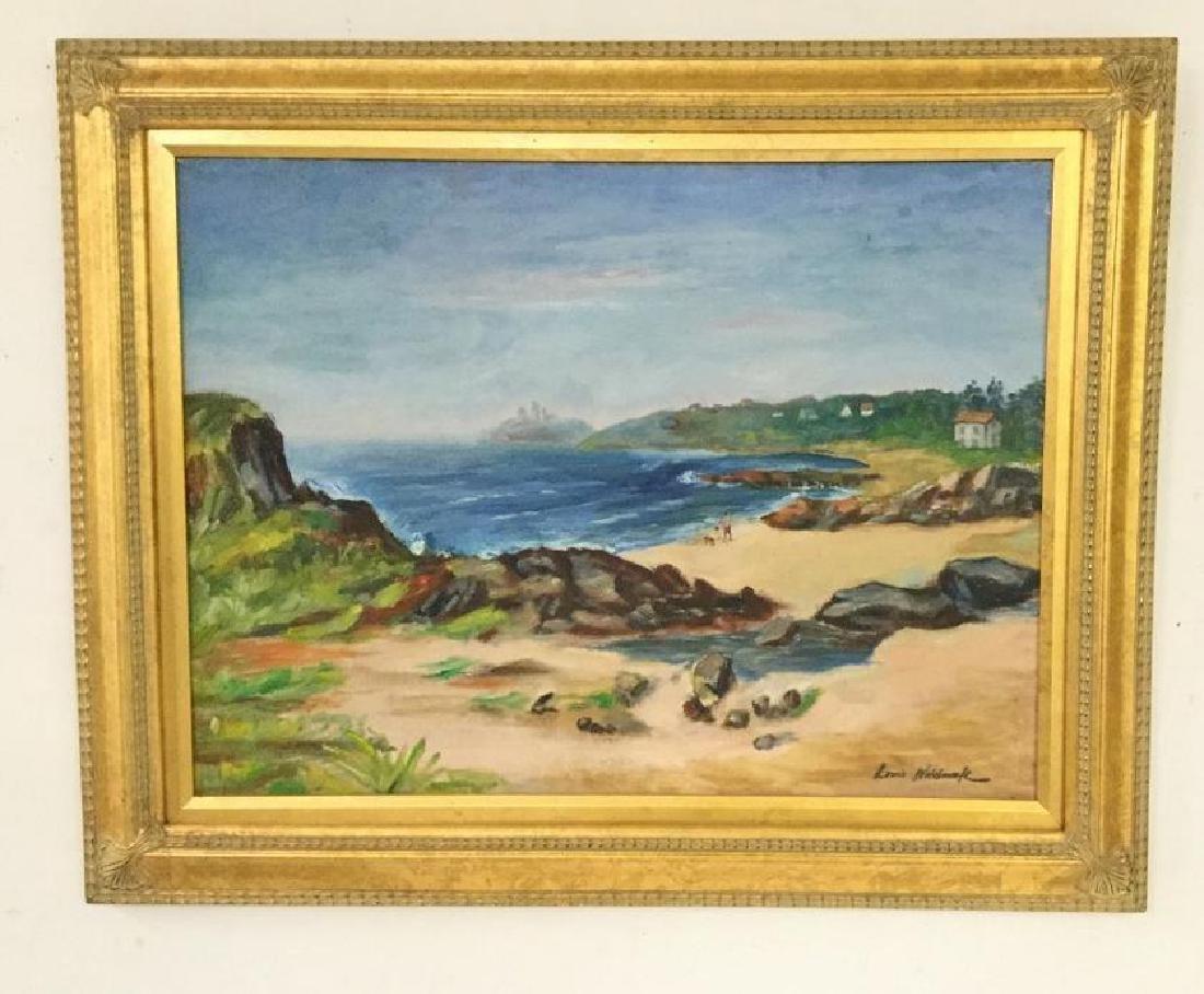 LOUIS WOLCHONOK (1898-1973) O/B SEASCAPE, SIGNED LOWER
