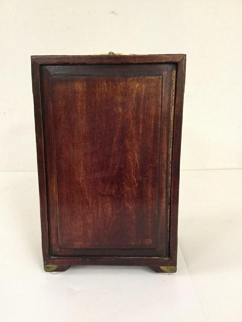 CIRCA 1920 ASIAN SMALL CHEST W/5 DRAWERS INSIDE & JADE - 5