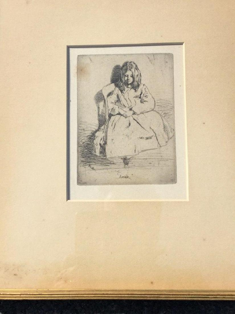 JAMES ABBOT MCNEILL WHISTLER ETCHING TITLED ANNIE,