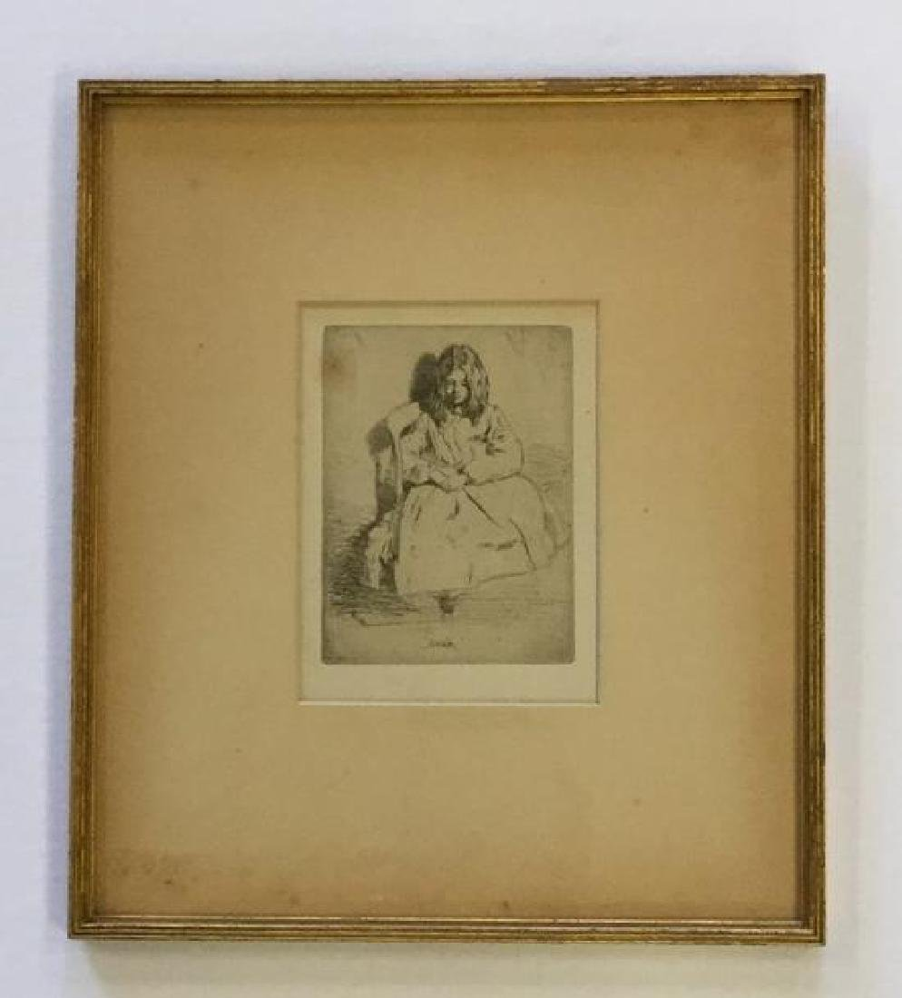 JAMES ABBOT MCNEILL WHISTLER ETCHING TITLED ANNIE, - 2