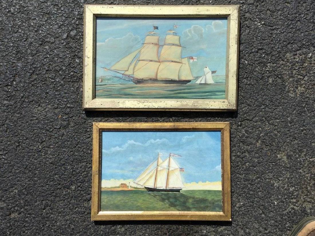 2 REPRODUCED SHIP PAINTINGS, 1-HERBERT MANTON OF