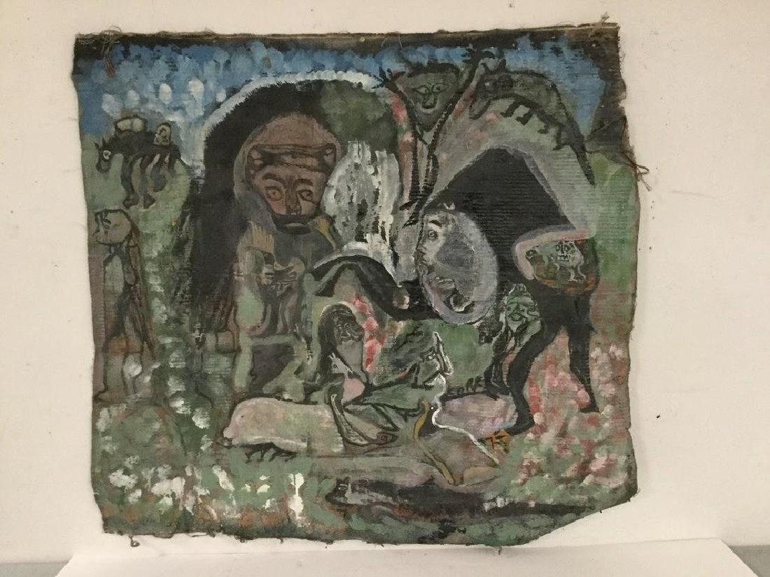OUTSIDER ARTIST UNSTRETCHED SOUTHERN OUTSIDER ART - 2