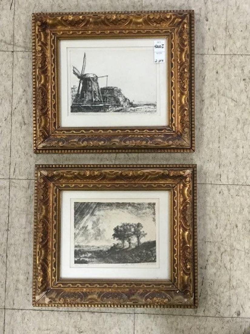 2 REMBRANDT ETCHINGS IN MATCHING FRAMES, NOT SURE WHAT