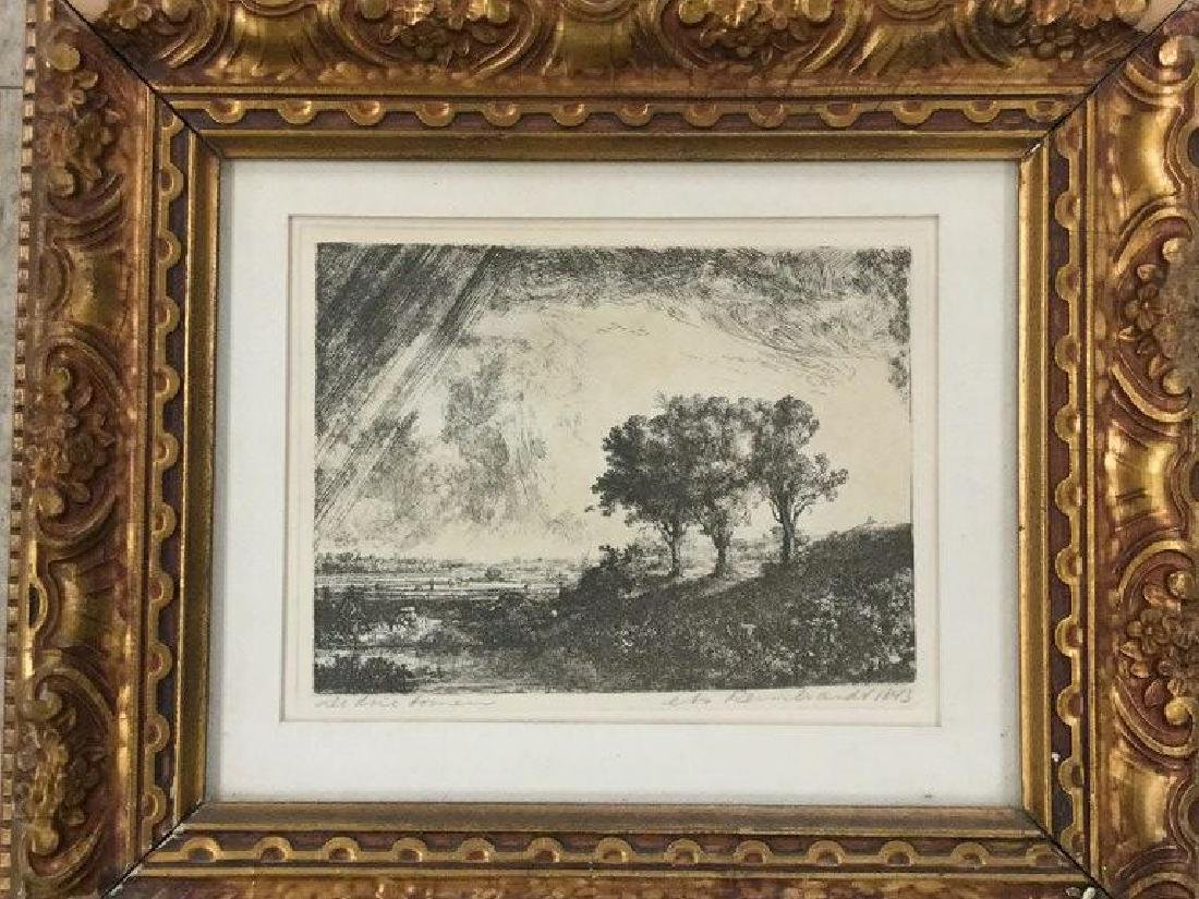 2 REMBRANDT ETCHINGS IN MATCHING FRAMES, NOT SURE WHAT - 3