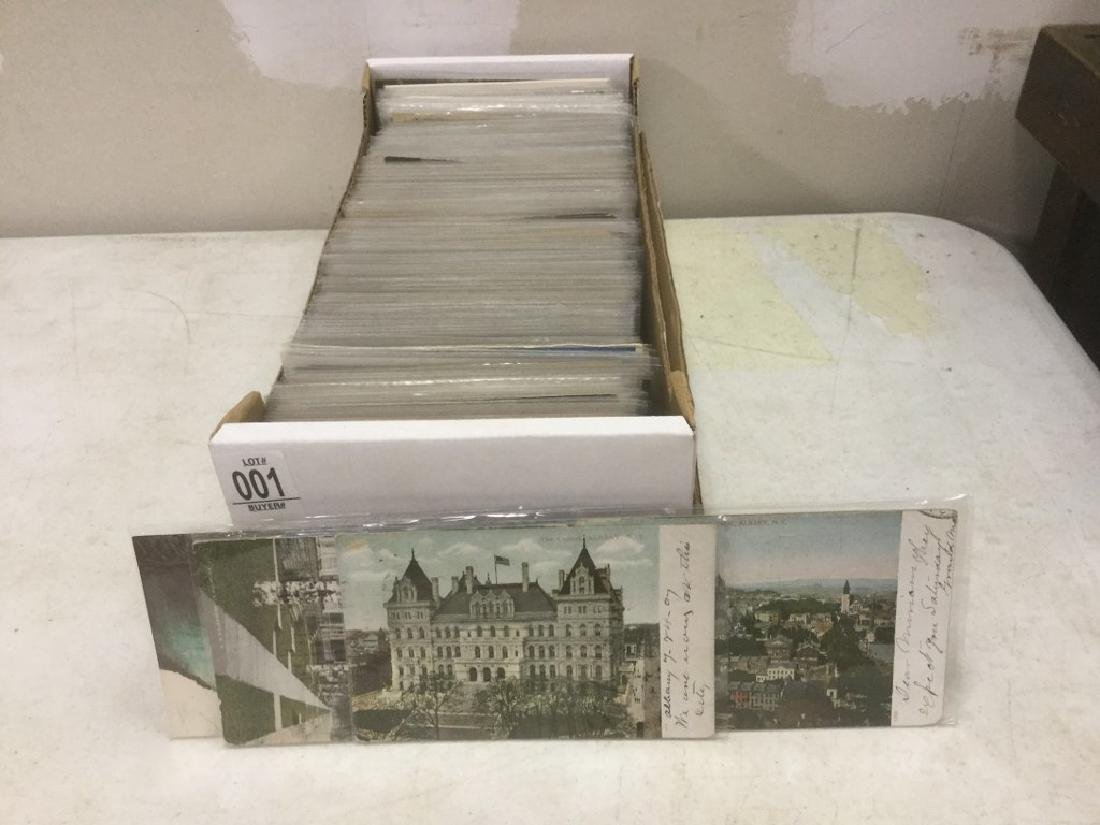 BOX OF APPROX 600-700 OLDER NEW YORK STATE POSTCARDS