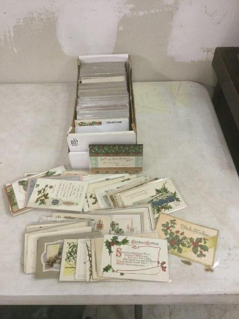 BOX OF APPROX 600-700 OLDER CHRISTMAS POSTCARDS FROM