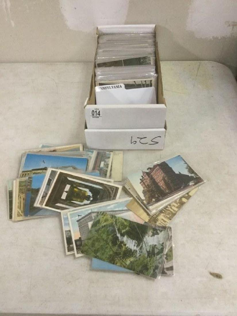 BOX OF APPROX 600-700 OLDER PENNSYLVANIA AND NORTH