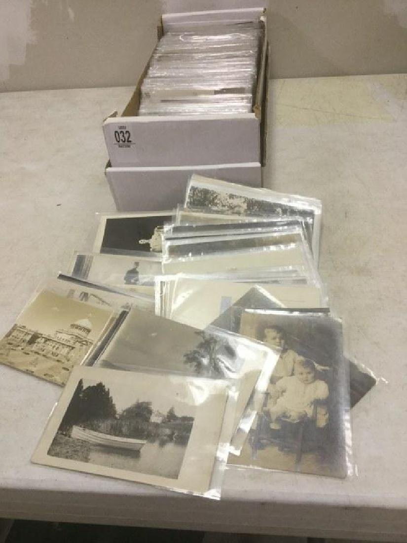 BOX OF APPROX 500-600 OLDER REAL PHOTO POSTCARDS FROM