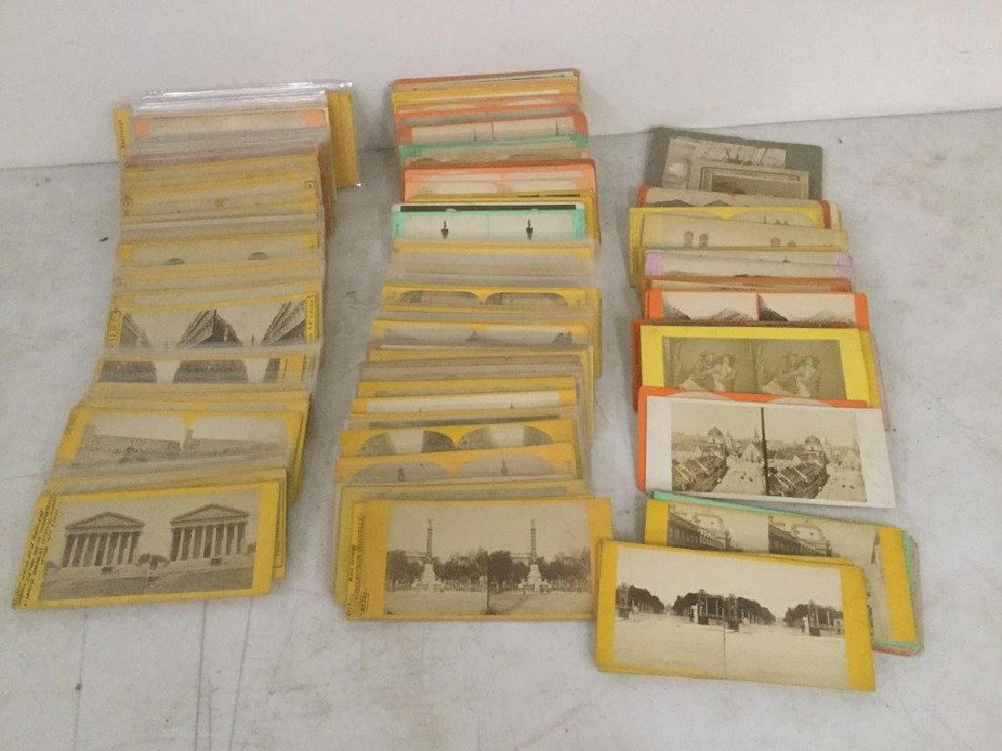 205 STEREOVIEWS INCLUDING FRENCH, GERMAN, ENGLISH,