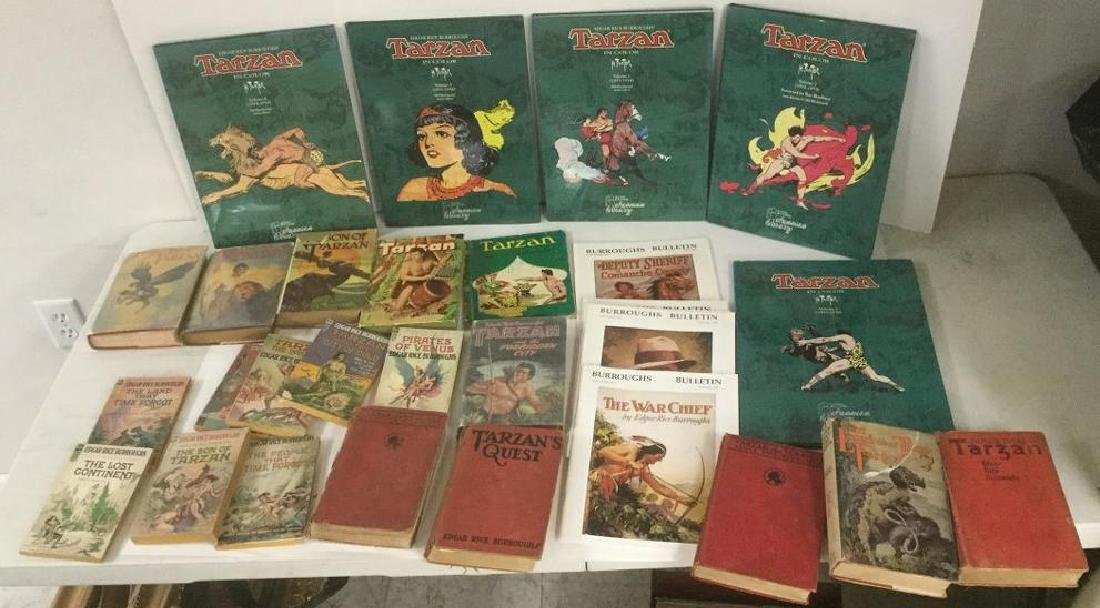 BOXLOT TARZAN BOOKS BY EDGAR RICE BURROUGHS INCLUDING