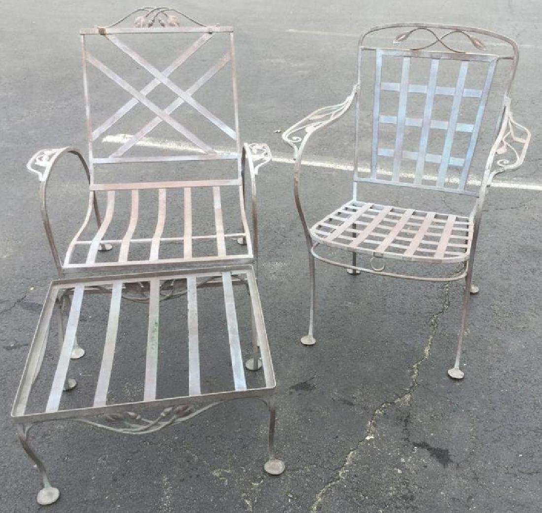 3 PC SALTERINI SET INCLUDING CHAIR W/FOOT REST &