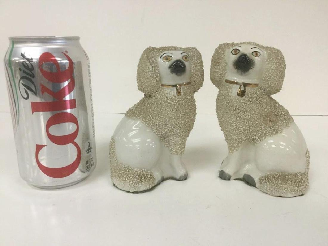 "PAIR OF 4 3/4"" HIGH STAFFORDSHIRE DOGS IN NICE ESTATE"