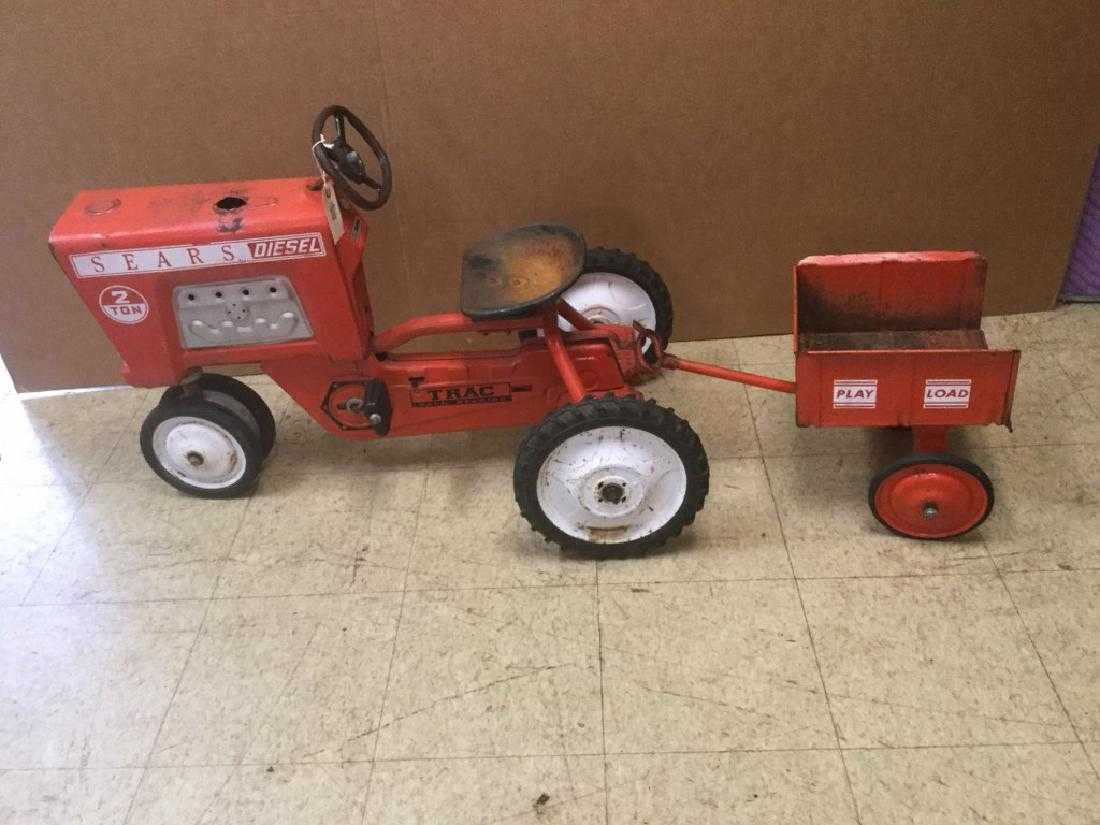 SEARS PEDAL TRACTOR W/TRAILER, FROM PEDAL CAR
